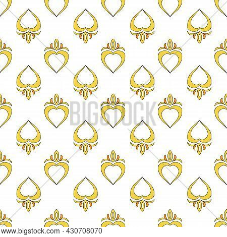 Vector Background Brittany Celtic, Breton Trational Folklore Symbols Seamless Pattern. Seamless Patt