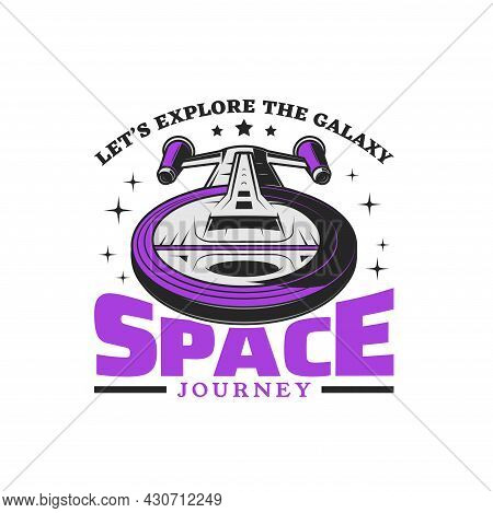 Futuristic Space Shuttle Vector Icon Of Space Travel, Journey And Adventure Design. Spaceship Or Sta