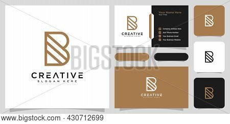 Initials Letter B Logo Vector Design And Business Card