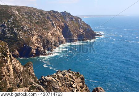 Cabo da Roca - the most western point of Europe. Coast of Portugal