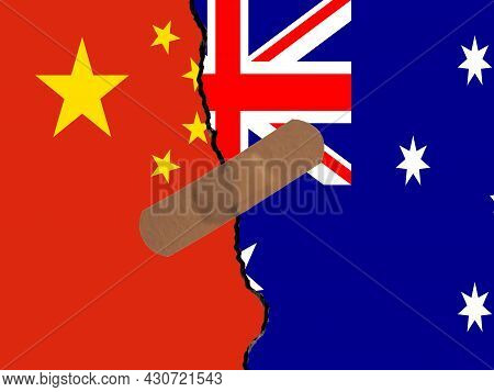 Restoring Relations Between China And Australia. A Plaster That Binds The Crack In Relations.