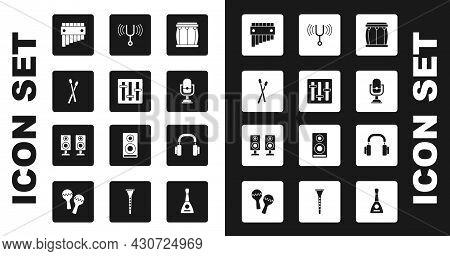 Set Drum, Sound Mixer Controller, Sticks, Pan Flute, Microphone, Musical Tuning Fork, Headphones And