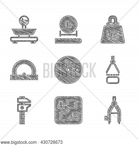 Set Radius, Route Location, Drawing Compass, Calliper Or Caliper And Scale, Protractor, Weight And S