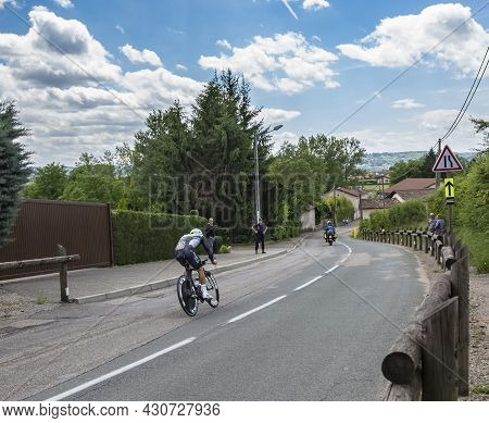 Bourgoin-jallieu, France - 07, May, 2017: The Algerian Cyclist Youcef Reguigui Of Team Sky Riding Du