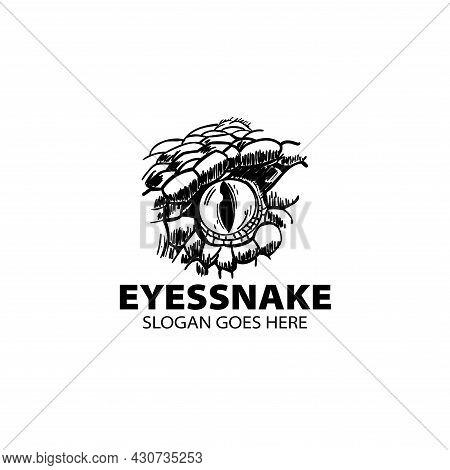 Snake Eyes Hand Drawn Design Vector. Snake Eyes Illustration Vector