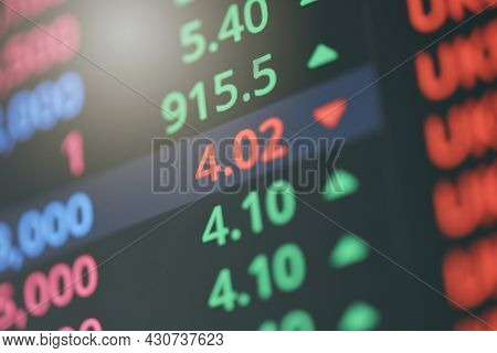 Stock Market Digital Number Chart Business Indicator Stock Exchange Trading Analysis Investment Fina