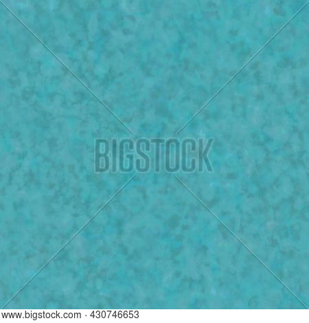 Abstract Spotted Teal Blue Seamless Pattern. Watercolor Background. Textured Template For Design, Te