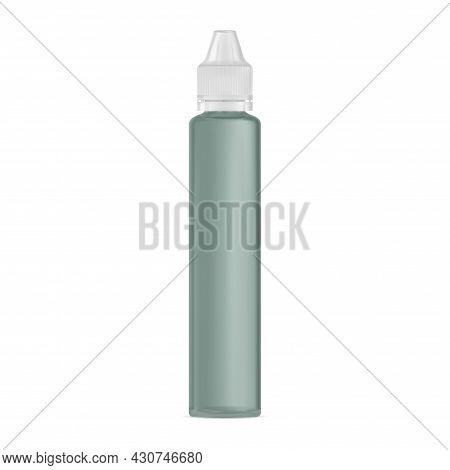 E Liquid Dropper Bottle, Vaper Juice Mockup, Plastic Flask. Eye Serum Container, Vapor Glycerin Vial