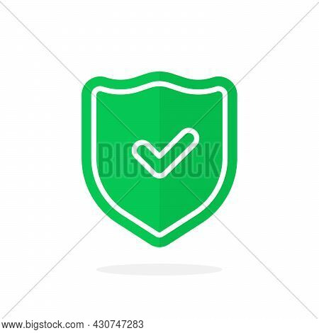 Green Shield With Check Mark Like Security