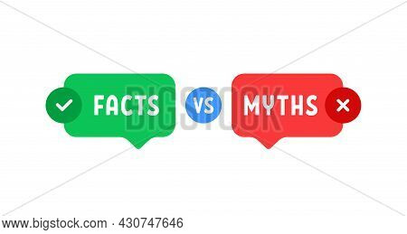 Green And Red Bubbles With Myths Vs Facts