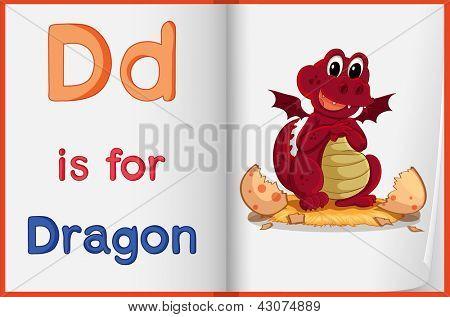 Alphabet worksheet for the letter D