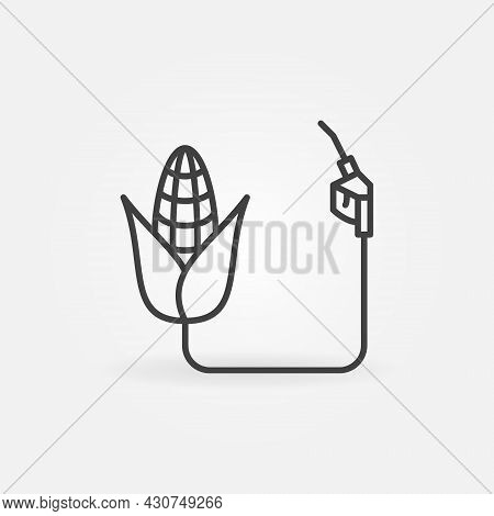 Biofuel Made From Corn Vector Concept Line Icon Or Symbol