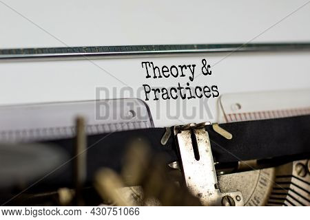 Theory And Practices Symbol. Words 'policies And Procedures' Typed On Retro Typewriter. Business, Th