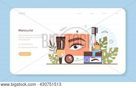 Eyebrow Master Web Banner Or Landing Page. Master Making Perfect Eyebrows.