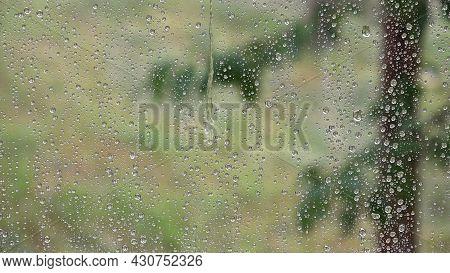 Raining, Rain Drops On Window, Torrential Rain, Hailstone Stormy, Summer Rainy Day, Hail, Ice Storm