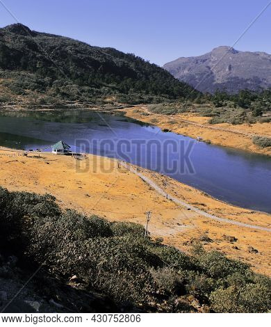 One Of The Most Popular Tourist Place Of Tawang Hill Station Surrounded By Alpine Meadow, Hills And