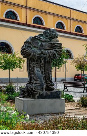 Shkoder, Albania - June 21, 2021: Monument To Martyrs Of The Albanian Nation Near The Grand Church I