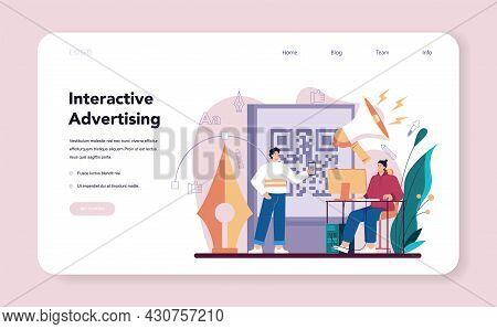 Advert Designer Or Illustrator Web Banner Or Landing Page.