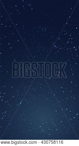 Space Background. Abstract Vector Illustration Of The Planet And The Starry Sky. A Blank For Creativ