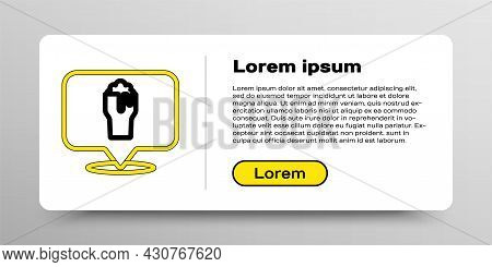 Line Alcohol Or Beer Bar Location Icon Isolated On White Background. Symbol Of Drinking, Pub, Club,