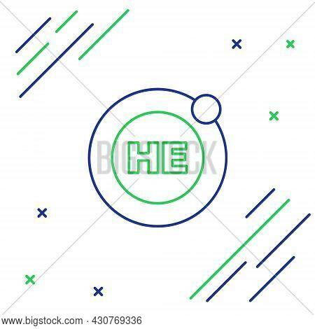 Line Helium Chemical Element Icon Isolated On White Background. Helium Periodic Table Element Chemis