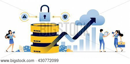 Illustration Of Analyze Service Performance And Increase Of Security Systems For Cloud Servers Datab
