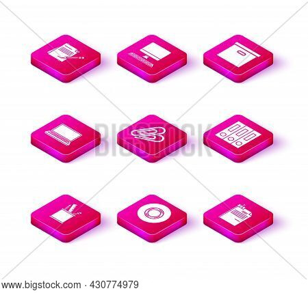 Set Pencil Case Stationery, Scotch, Laptop, Paper Clip, File Document And Binder, Office Folders Wit