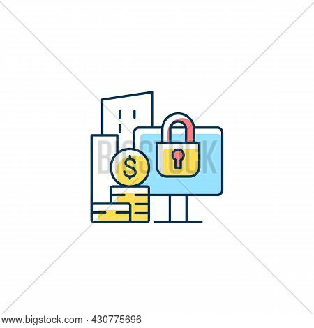 Material Nonpublic Information Rgb Color Icon. Security Trading. Cybersecurity Risks Prevention. Pro