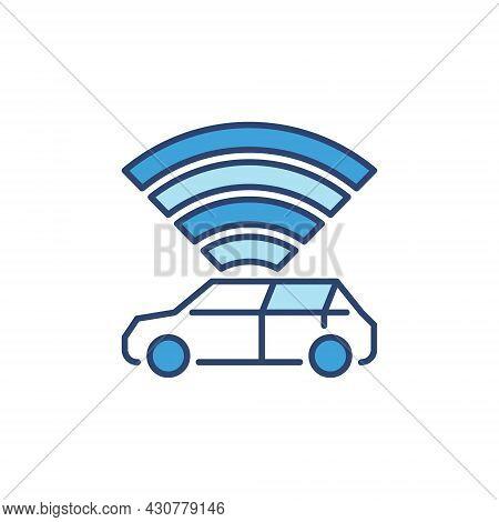 Autonomous Vehicle - Av Vector Concept Blue Creative Icon