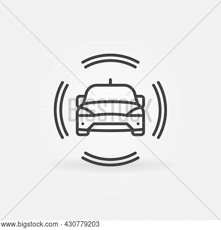 Autonomous Driverless Vehicle Vector Concept Line Icon