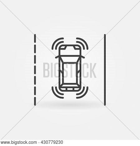 Autonomous Self-driving Vehicle Linear Vector Concept Icon