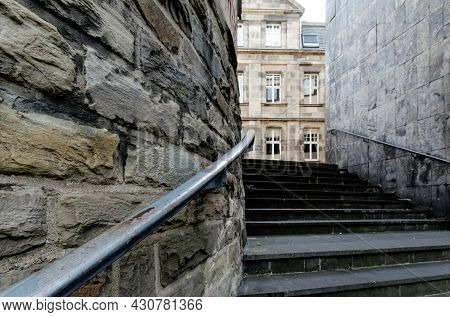 Stairway With Railing In The Old Town Of Cologne