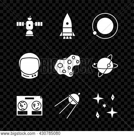 Set Satellite, Rocket Ship, Satellites Orbiting The Planet Earth, Celestial Map Of Night Sky, Fallin