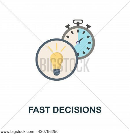Fast Decisions Flat Icon. Simple Sign From Gamification Collection. Creative Fast Decisions Icon Ill