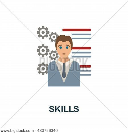 Skills Flat Icon. Simple Sign From Gamification Collection. Creative Skills Icon Illustration For We