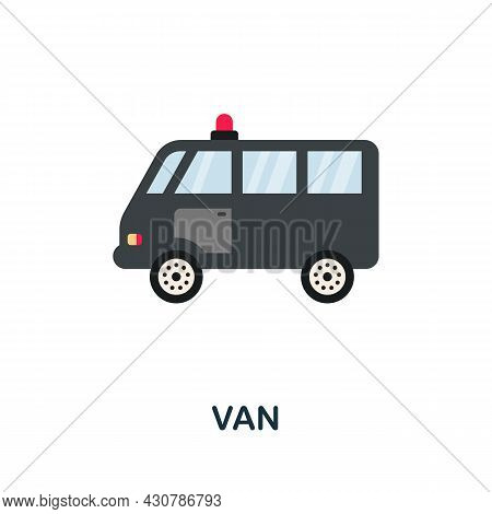Van Icon. Flat Sign Element From Law Collection. Creative Van Icon For Web Design, Templates, Infogr