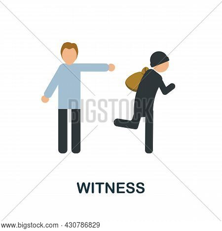 Witness Icon. Flat Sign Element From Law Collection. Creative Witness Icon For Web Design, Templates