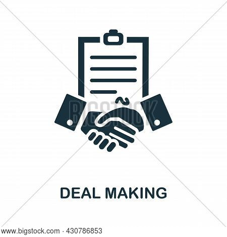 Deal Making Flat Icon. Colored Sign From Leadership Collection. Creative Deal Making Icon Illustrati