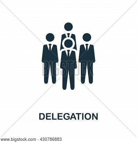 Delegation Flat Icon. Colored Sign From Leadership Collection. Creative Delegation Icon Illustration