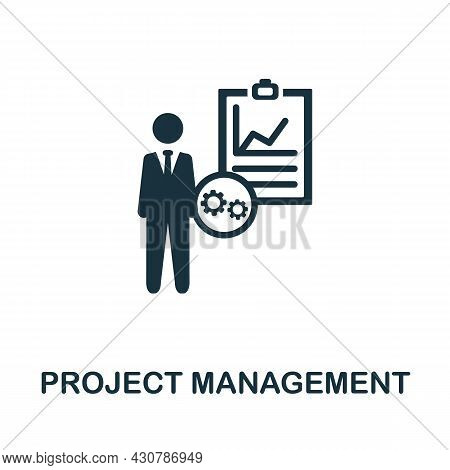 Project Management Flat Icon. Colored Sign From Leadership Collection. Creative Project Management I