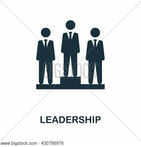 Leadership Flat Icon. Colored Sign From Collection. Creative Leadership Icon Illustration For Web De