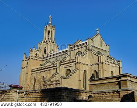 Cathedral Of The Sacred Heart Of Jesus, Known As Polish Church, Quite Exotic Religious Building For