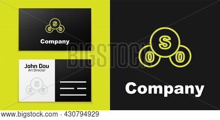Logotype Line Sulfur Dioxide So2 Gas Molecule Icon Isolated On Black Background. Structural Chemical