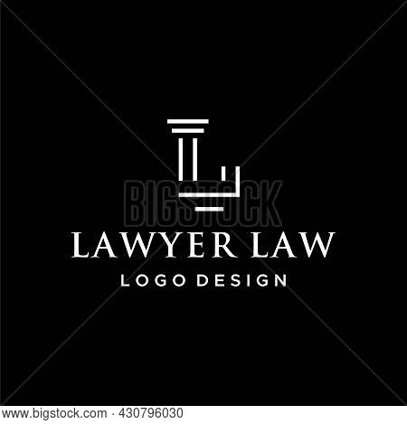 Luxurious And Simple Logo About The Letter L And Attorney Law. Eps 10, Vector