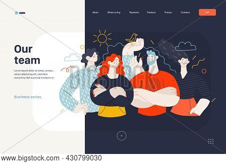 Business Topics - Our Team, Crew - Web Template