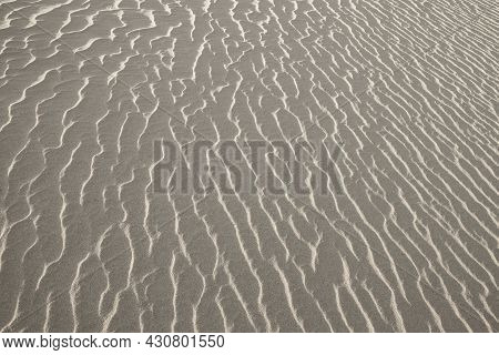 Close Up View Of Sand Dunes Surface Pattern At Sands Dunes National Park