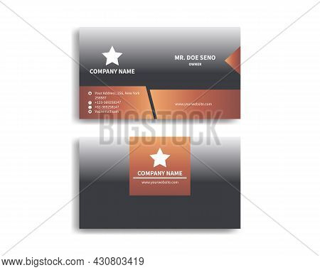 Double-sided Corporate Business Card Template, Corporate Business Card Template