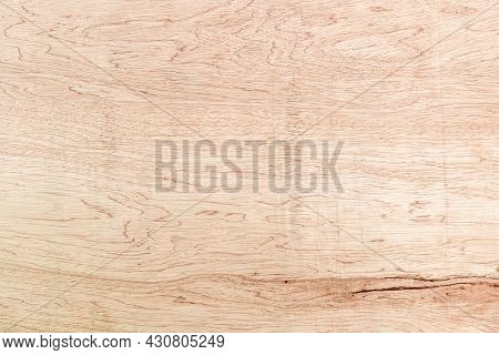 Natural Wood Grain Plywood Texture, Brown Plywood Texture For Background. Top View Of Natural Wood G