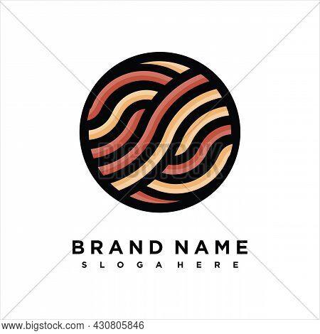 Simple Logo Design Noodle. Suitable For Business Related To Ramen, Noodles, Fast Food Restaurant, Ko