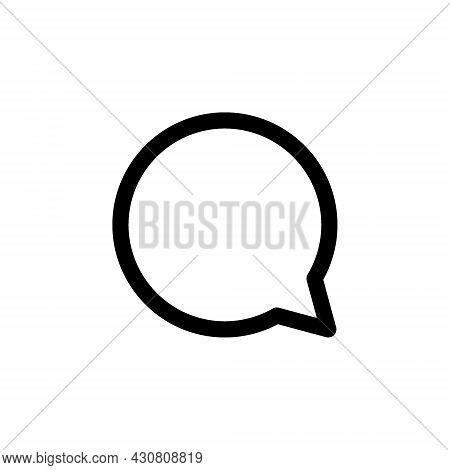 Kyiv, Ukraine - August 1, 2021: Speech Bubble Black Line Icon. Popular Instagram Media Element. Dial